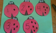 Ladybug spots activity... The kids match the number to the spots. Super easy and teaches number identification. #ladybug #numbers #preschool