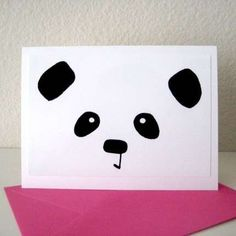 homemade panda birthday decorations | Panda Birthday Card
