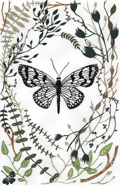 Like the floral motif around the butterfly as much as butterfly itself. (Katie Skau)