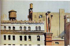 """Rooftops"" 1926 Edward Hopper. Whitney Museum of American Art."