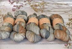 I have been dying to share this with you - what do you reckon to it? Its a new colourway called Barn Owl and its on Carlisle Fingering (which is 100% superwash merino from non-mulesed flocks as always). And itll be in the next update before you ask.  All three of us are feeling VERY smitten with it so I already think I ought to make more! - #edencottageyarns #yarn #wool #merino  PS. Ive just noticed that today is #nationalbirdday - how apt!