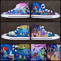 Disney Princess shoes Mulan and Tangled Little by PattyCakesKicks from PattyCakesKicks on Etsy. Saved to Disney. Disney Converse, Cute Converse Shoes, Converse Design, Sock Shoes, Nerd Shoes, Converse Sneakers, Disney Painted Shoes, Painted Canvas Shoes, Disney Princess Shoes