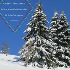 Green Christmas Socially Responsible Shopping Guide