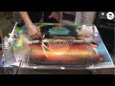 Nature spray paint art
