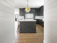 Hot New Kitchen Trend: Dark Cabinets, Subway Tile and Shiplap