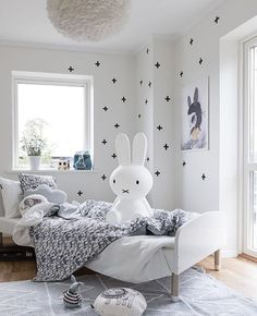 Love this beautiful kid's room via @mainstreetsthlm  Miffy lamp and Vita Eos light shade are all available in our online store ✨ . #kidsroom #kidsroomdecor #nordichome #nordicinspiration