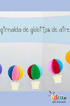 ¡Decora la #Fiesta de tu bebé con esta hermosa guirnalda de globitos de aire!