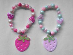 .Strawberry Charm Bracelet