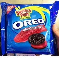 Swedish Fish oreos.  Really. This is real.