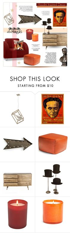 """""""A Kind of Magic ~ Houdini Decor"""" by alexandrazeres ❤ liked on Polyvore featuring interior, interiors, interior design, home, home decor, interior decorating, kalalou, Jonathan Adler, LAFCO and Hedi Slimane"""