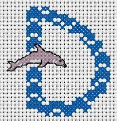 alphabet - broderie - cross stitch - D - Point de croix - Blog : http://broderiemimie44.canalblog.com/