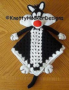 Ravelry: Kitty Lovey Blankie pattern by Knotty Hooker Designs