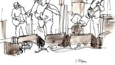 https://flic.kr/p/geKskM | Crossfire Hurricane, Cavfest, Manchester | Classic covers band. ..We were the official artists for this primary school festival in Didsbury, and also ran a Little Urban Sketchers workshop.