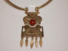 Necklace. 925 Silver,Gldfill.Carnilian cabushon.
