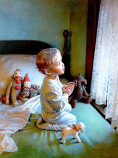 At first I thought this was a photograph. The Faith of a Child ~ Kathy Lawrence