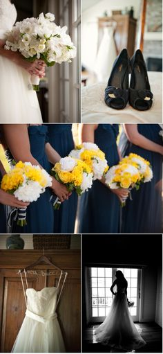 Amsale blue bridesmaids :  Photography By / http://lauriebailey.com, Floral Design By / http://tonichandlerflorals.com