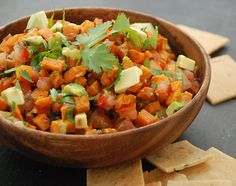 Sweet potato salsa (make NC version - add red or green onion for some crunch)