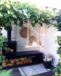 Small Backyard Ideas - Also if your backyard is small it additionally can be extremely comfy as well as inviting. Having a small backyard does not imply your backyard landscaping . Home And Garden, Outdoor Decor, Outdoor Space, Outside Living, Outdoor Rooms, House Exterior, Dream Garden, Garden Inspiration, Outdoor Design