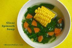 Clear Spinach Soup