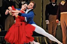 With Tamara Rojo in Frederick Ashton's Marguerite and Armand at the Royal Opera House in 2013