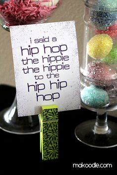 "Sugarhill Gang ""hip hop"" (Rapper's Delight) printable. SO AWESOME! @Jennifer Hicks, I think you need this next year for the kiddos. They're already so advanced in their musical education. :)"