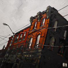 """Urban Composition #5, Stewart Jones (2014) oil on canvas 30"""" x 30"""""""