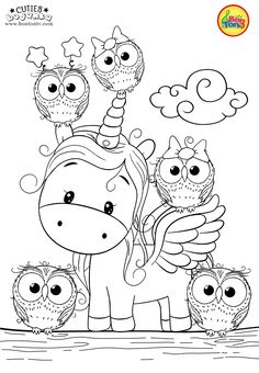 Cuties Coloring Pages for Kids – Free Preschool Printables – Slatkice Bojanke – Cute Animal Coloring Books by BonTon TV Baby Coloring Pages, Unicorn Coloring Pages, Fairy Coloring, Disney Coloring Pages, Animal Coloring Pages, Printable Coloring Pages, Coloring Pages For Kids, Coloring Books, Free Preschool