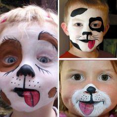 maquillage Halloween visage d`un chat