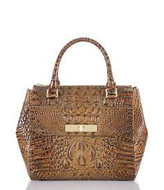 Brahmin Toasted Almond Collection Malia Croco Embossed Convertible Satchel  Types Of Handbags 8e4e5366a9fe0