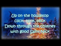 Many kids growing up in the early 50's learned their first Christmas songs singing along to Gene Autry who recorded a lot of them. In 1952 Gene gave us his version of  - 'Up on the House Top.'