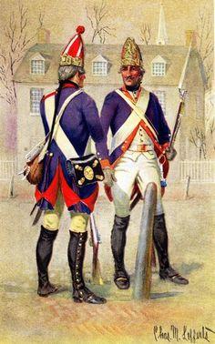 Grenadier, Regiment Von Rall and Fusileer, Regiment Alt Von Lossberg of Hesse-Cassel, 1776