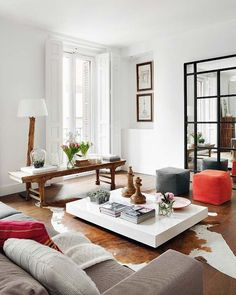 Gorgeous modern interior design with ethnic accents.