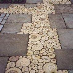 Inspiration for using ammonite in the garden