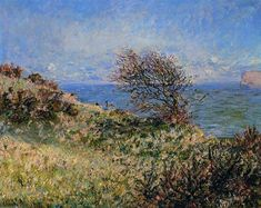 On the Cliff at Fecamp by @claude_monet #impressionism