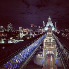 Tower Bridge and the City of London. A different perspective to norm. Only maintenance staff, pigeons, @Andrew Johnson and inebriated, industrio...