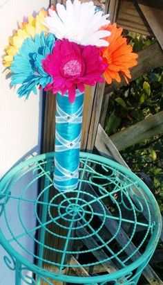 My sisters' (Matron of Honor) Daisy Bouquet We had made by  by SilkFlowersByJean!!! Love it!! Thank you so much! May 24,2014
