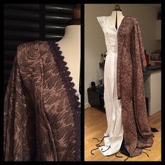 """The fabric came in! I think I will actually use the right side of the fabric. Overall it gives a nicer look but maybe after dying I'll change my mind…"""