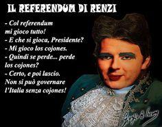 Renzi, democrazia è: quando si perde si lascia!