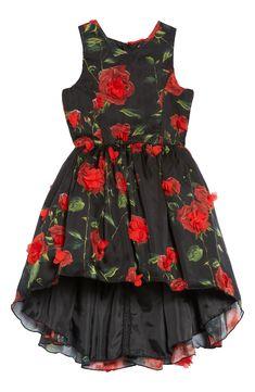 Nanette Lepore Floral High/Low Fit & Flare Dress on Nordstrom Fit Flare Dress, Fit And Flare, Tween Party Dresses, Nanette Lepore, Red Flowers, Kids Wear, Hemline, High Low, Nordstrom