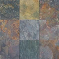 MS International Multi Classic 12 In. x 12 In. Gauged Slate Floor & Wall at The Home Depot Slate Countertop, Slate Flooring, Flooring Store, Quartz Countertops, Slate Wall Tiles, Pergola Shade, Diy Pergola, Cheap Pergola, Pergola Kits