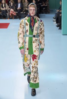 "055f4190e2d Alessandro Michele unveiled his Fall Winter 2018 ""CYBORG"" collection for  Gucci"