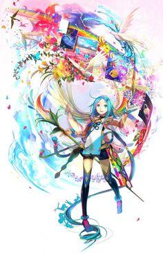 cute anime artist creating her world with her paint brush by fuji choko mangaka artist [animekida.com] | Anime Kida
