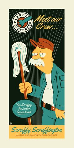 """Futurama Art """"Scruffy"""" by Dave Perillo - The Incredible Art Gallery"""