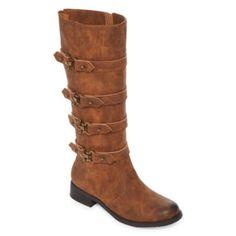 f83d56da33d3 2 Lips Too Joe Womens Riding Boots Wide - JCPenney Wedge Boots