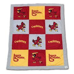 Iowa State T-shirt blanket, vintage Iowa State logos