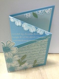 Stampin' Up! Flower Shop Turquoise Trifold