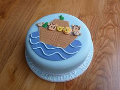 Noah's Ark cake for Noah. I'm rather pleased with how it turned out as I wasn't relishing making lots of little animals! Little Boy Cakes, Cakes For Boys, Noahs Ark Cake, 1st Birthday Cakes, Birthday Ideas, Just Cakes, Cake Pictures, Celebration Cakes, Cupcake Cakes