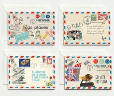 4+gute+Reise+Klapp-Karten+von+VintagePaperGoods+-+GreenNest+auf+DaWanda.com