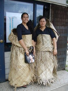 Girls in Traditional Tongan Dresses by Warm Rain, via Flickr