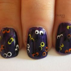 Halloween nails. Love this!